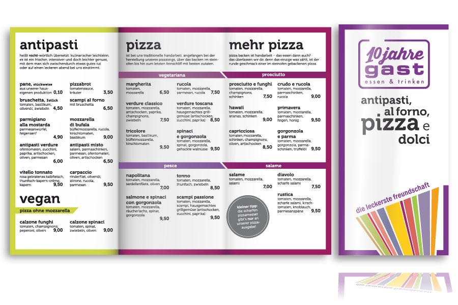 PLUTO & suns Standardkarte 2014 Pizzsastation für Restaurant gast