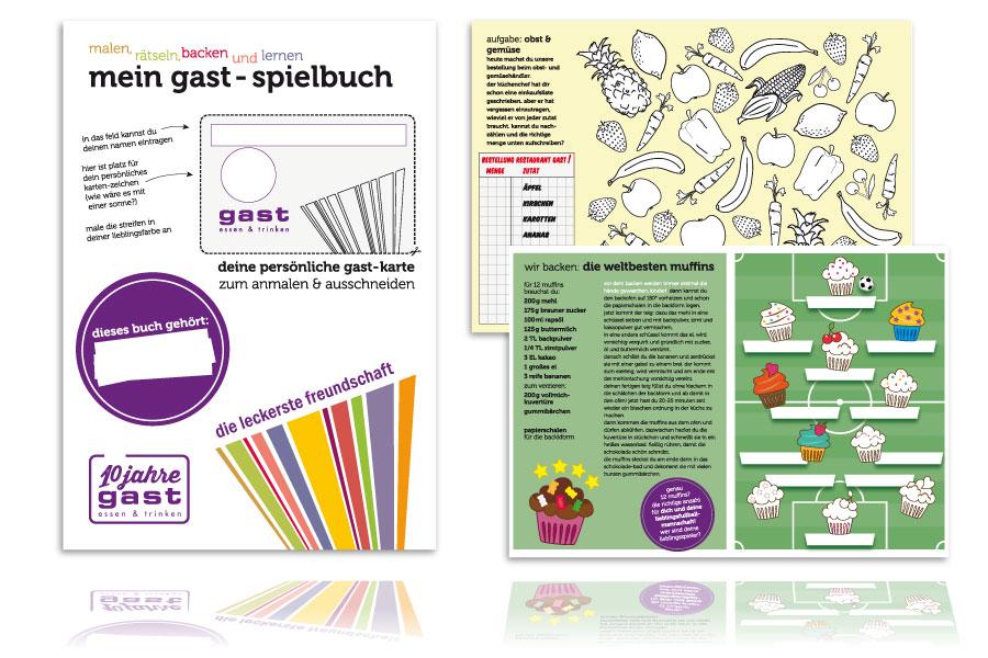 PLUTO & suns Poster Kinderspielbuch für Restaurant gast