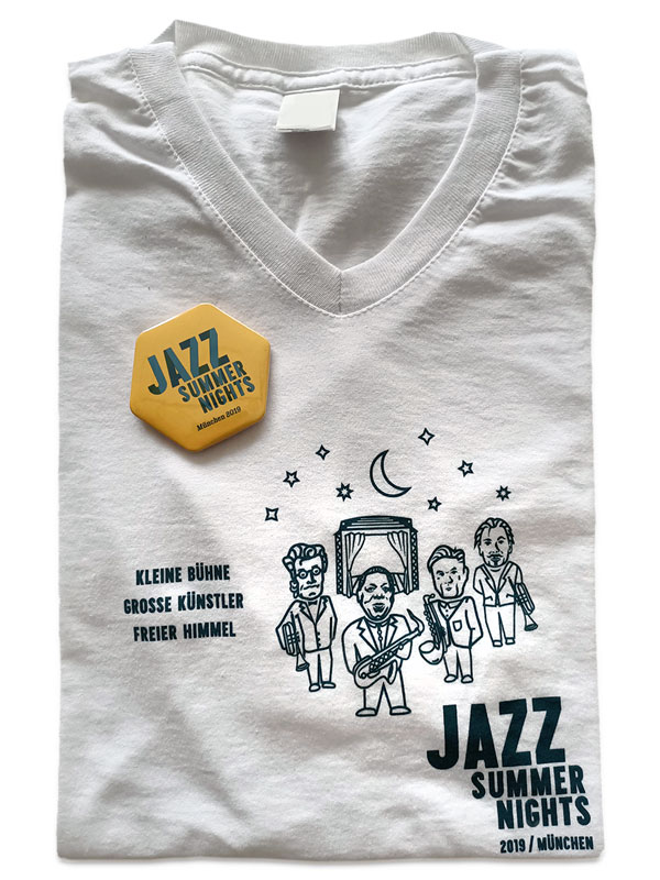 PLUTO & sun Jazz Summer Nights 2019 Fan-Shirt