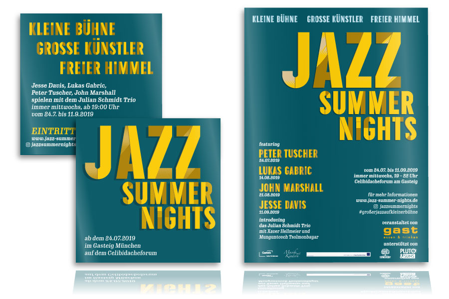 PLUTO & suns Poster und Flyer für Jazz Summer Nights