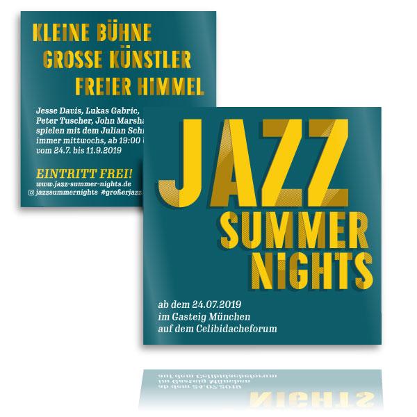 PLUTO & suns Flyer für Jazz Summer Nights