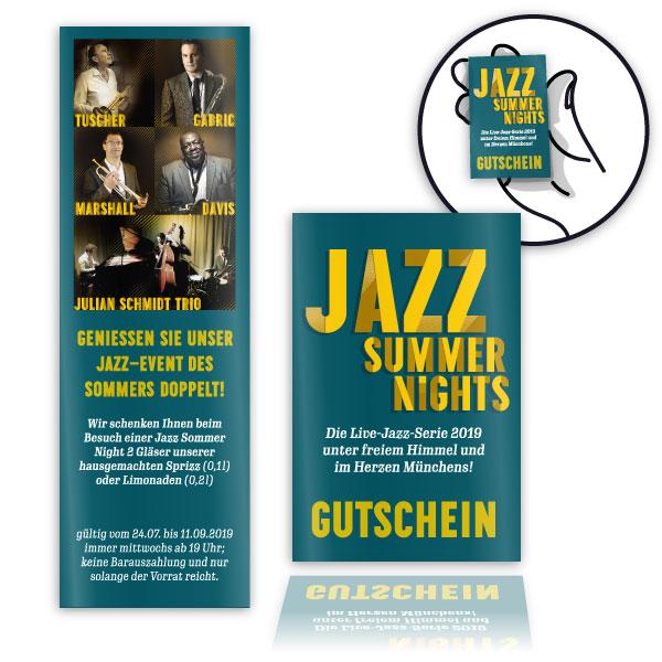 PLUTO & suns Getränkegutscheine für Jazz Summer Nights