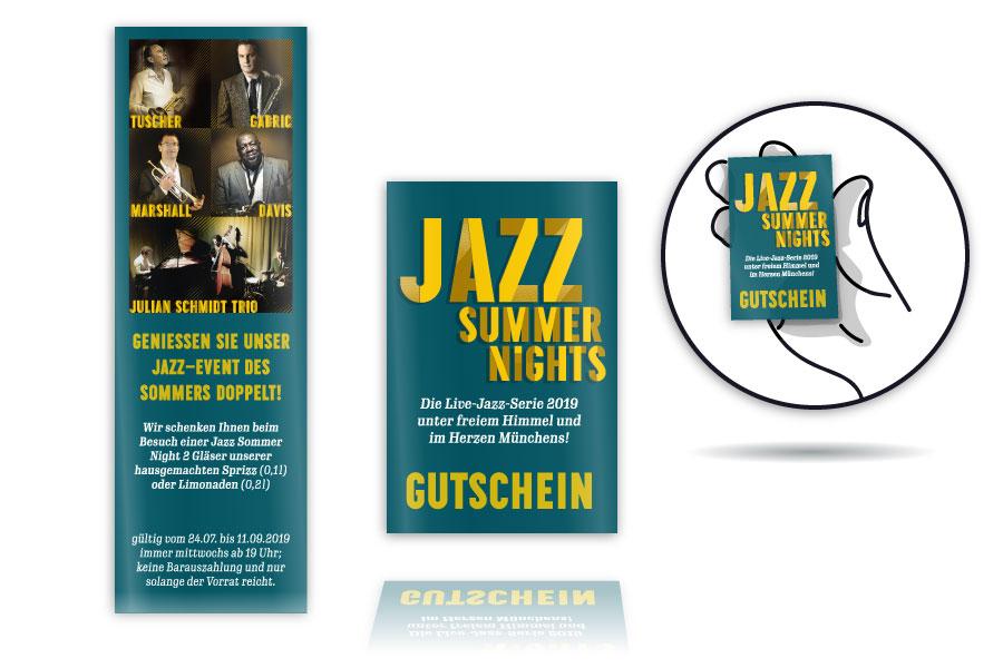 PLUTO & sunsGetränkegutscheine für Jazz Summer Nights