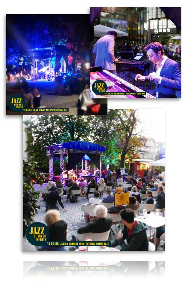 PLUTO & suns Bildergalerien für Jazz Summer Nights