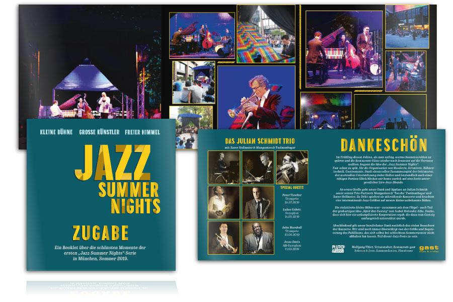 PLUTO & suns gedruckte Zugabe für Jazz Summer Nights
