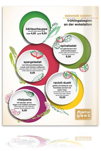 PLUTO & suns Poster saisonale Speisen für Restaurant gast