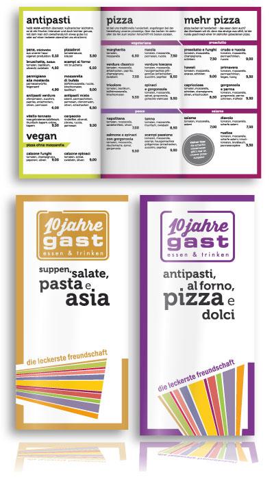 PLUTO & suns Standardkarte 2014 für Restaurant gast