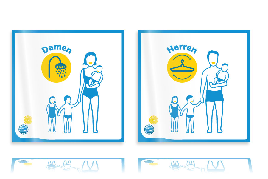 PLUTO & suns Schilder und Icons für Aqua & Soul