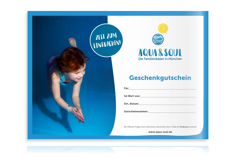 PLUTO & suns Gutscheinkarte für Aqua & Soul