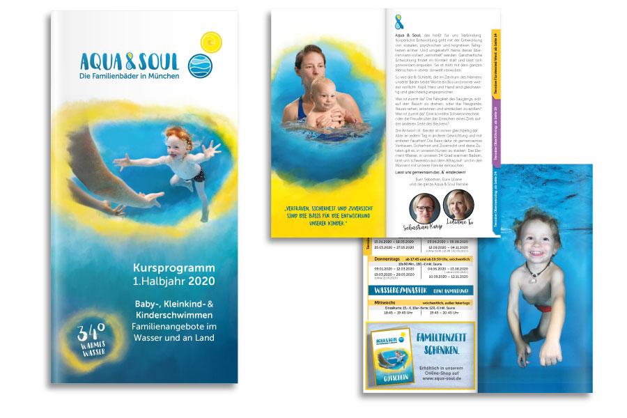PLUTO & suns Kursbroschüre für Aqua & Soul