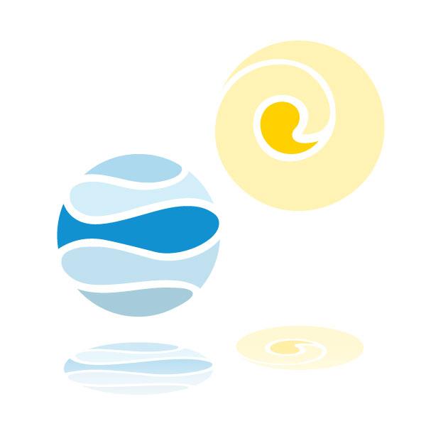 PLUTO & suns Logoelemente für Aqua & Soul