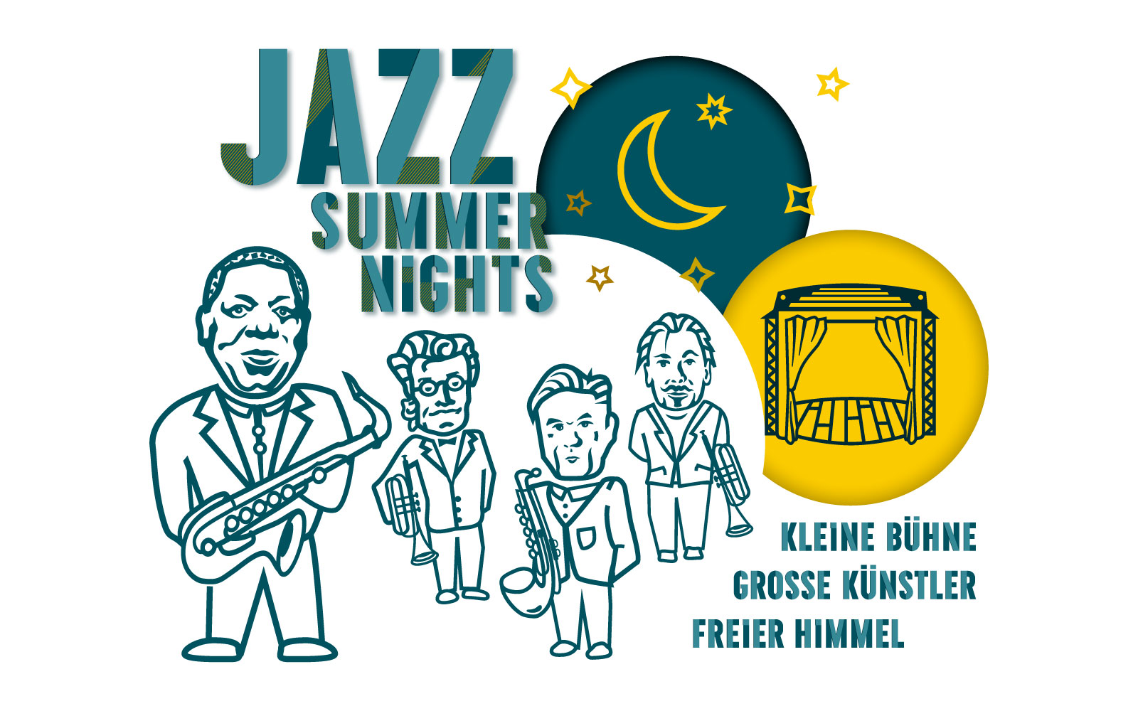 PLUTO & suns Grafik Collage Jazz Summer Nights