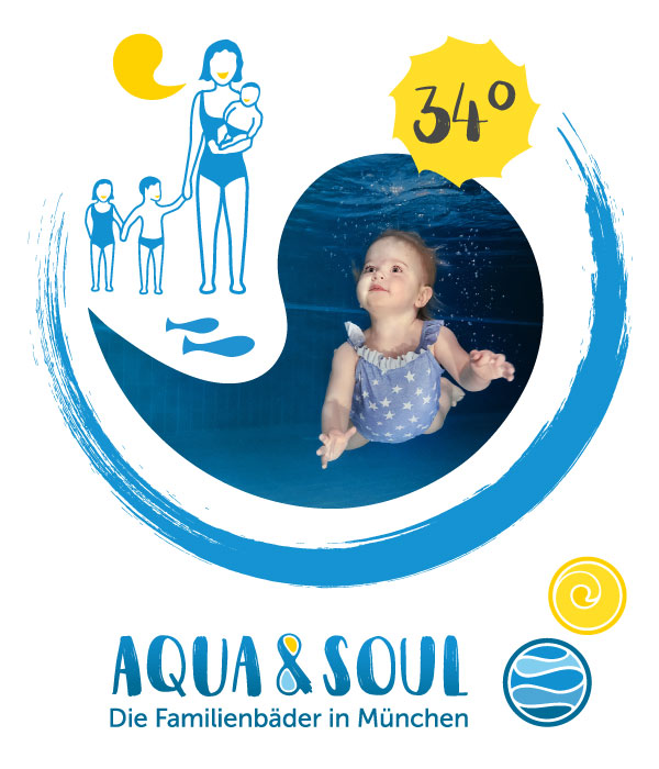 PLUTO & suns Grafik Collage Aqua&Soul Familienbäder